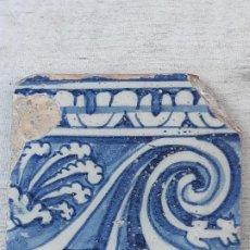 Antigüedades: AZULEJO ANTIGUO DE TALAVERA DE LA REINA / TOLEDO. RENACIMIENTO - FINAL SIGLO XVI.. Lote 189974311
