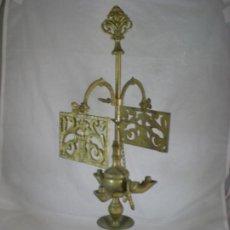 Antigüedades: LAMPARA CANDIL DE BRONCE - 45CM. Lote 190002686