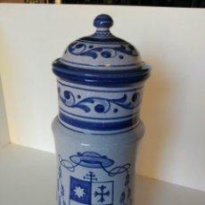 Antigüedades: GRAN ALBARELO O TARRO DE FARMACIA, OPIUM, PUENTE DEL ARZOBISPO. Lote 190011781