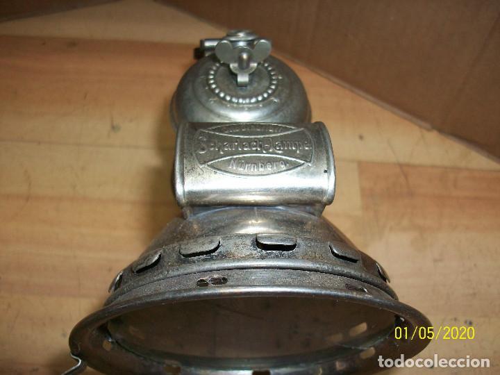 Antigüedades: ANTIGUO FAROL DE BICICLETA ALEMAN A CARBURO -SCHARLACH LAMPE - Foto 4 - 190012470