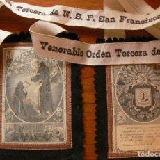 Antigüedades: ESCAPULARIO DE SAN FRANCISCO. Lote 225231230