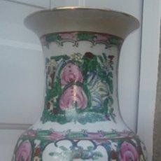 Antiquités: JARRON CHINO - FAMILIA ROSA - CANTON CHINA -. Lote 190056705