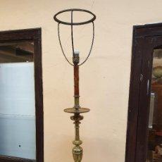 Antigüedades: GRAN HACHERO DE BRONCE RECONVERTIDO EN LAMPARA, S. XVIII-XIX. Lote 190061862