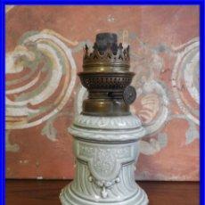 Antigüedades: QUINQUE DE PORCELANA ANTIGUO KOSMOS BRENNER. Lote 190063672