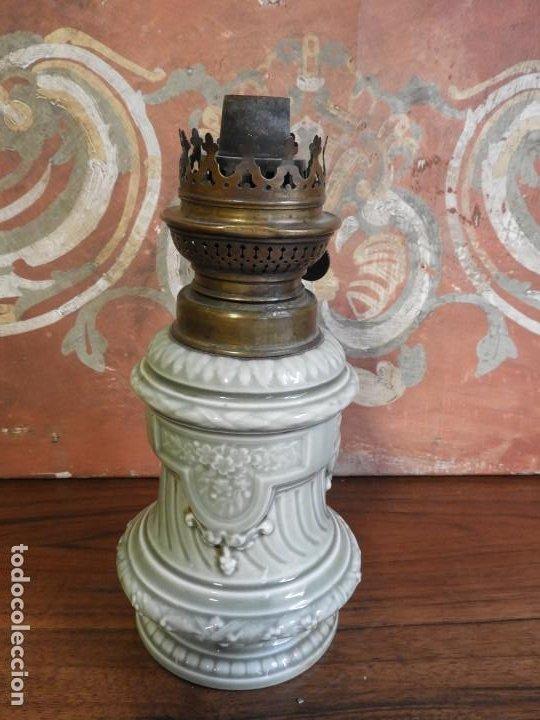 Antigüedades: QUINQUE DE PORCELANA ANTIGUO KOSMOS BRENNER - Foto 3 - 190063672