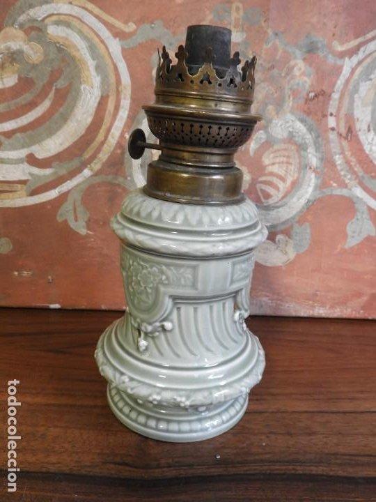 Antigüedades: QUINQUE DE PORCELANA ANTIGUO KOSMOS BRENNER - Foto 4 - 190063672