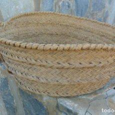 Antigüedades: ANTIGUO CAPAZO DE ESPARTO . Lote 190082182