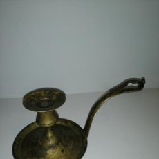 Antigüedades: ANTIGUA PALMATORIA DE LATÓN. Lote 190090718
