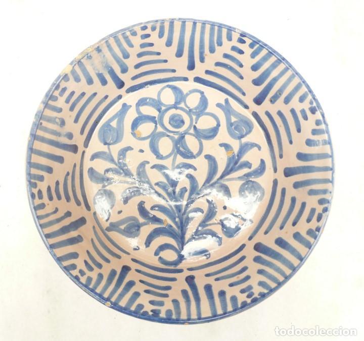 ANTIGUA FUENTE LEBRILLO DE FAJALAUZA, GRANADA. 28 CM DÍÁMETRO (Antigüedades - Porcelanas y Cerámicas - Fajalauza)