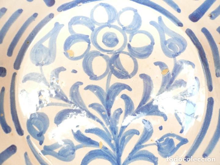 Antigüedades: ANTIGUA FUENTE LEBRILLO DE FAJALAUZA, GRANADA. 28 CM DÍÁMETRO - Foto 3 - 190110037