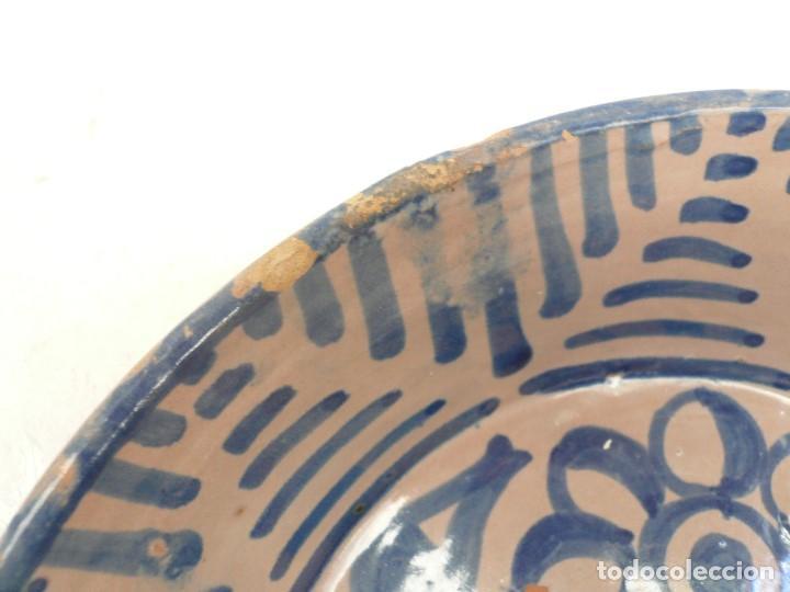 Antigüedades: ANTIGUA FUENTE LEBRILLO DE FAJALAUZA, GRANADA. 28 CM DÍÁMETRO - Foto 5 - 190110037