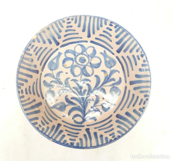 Antigüedades: ANTIGUA FUENTE LEBRILLO DE FAJALAUZA, GRANADA. 28 CM DÍÁMETRO - Foto 6 - 190110037