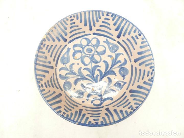 Antigüedades: ANTIGUA FUENTE LEBRILLO DE FAJALAUZA, GRANADA. 28 CM DÍÁMETRO - Foto 16 - 190110037