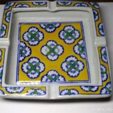 Antigüedades: CENICERO DE LOZA NUEVO. Lote 190115355