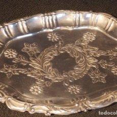 Antigüedades: BANDEJA PEQUEÑA PLATA DE LEY. Lote 190157396