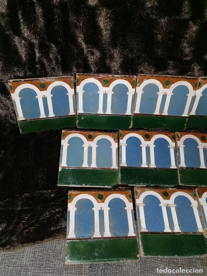 Antigüedades: 21 azulejos de Mensaque Rodríguez. Triana. Años 20 - Foto 2 - 190184042