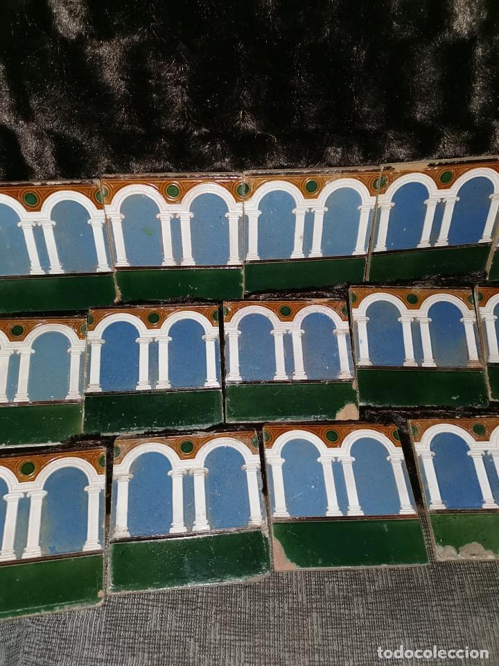 Antigüedades: 21 azulejos de Mensaque Rodríguez. Triana. Años 20 - Foto 3 - 190184042