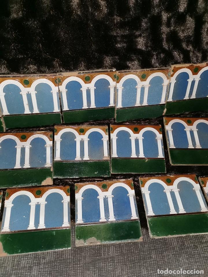 Antigüedades: 21 azulejos de Mensaque Rodríguez. Triana. Años 20 - Foto 4 - 190184042