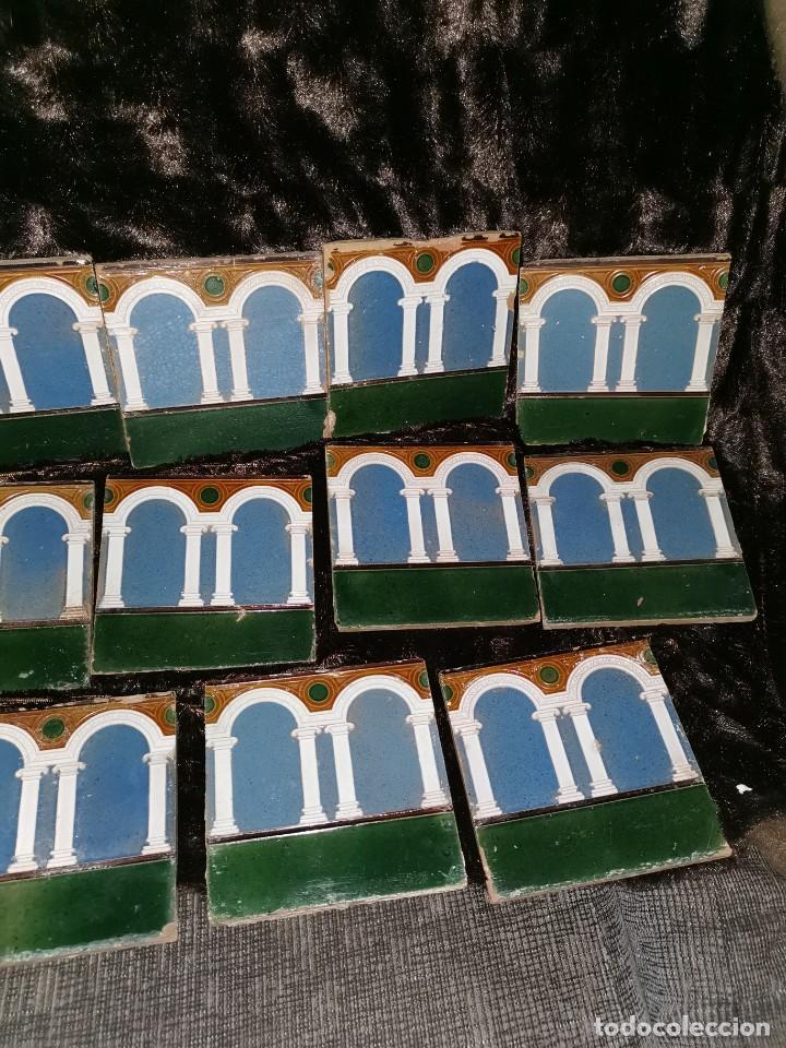 Antigüedades: 21 azulejos de Mensaque Rodríguez. Triana. Años 20 - Foto 5 - 190184042