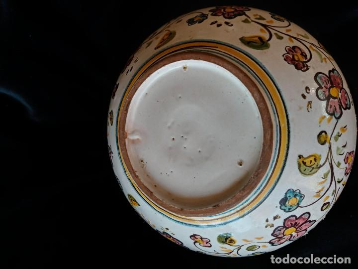 Antigüedades: Antiguo cuenco de ceramica de Talavera de la Reina S.XIX - Foto 2 - 180169566