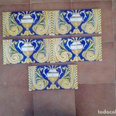 Antigüedades: AZ-80A 10 AZULEJOS MODERNISTAS COPA. Lote 190241313