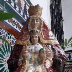 Antigüedades: VIRGEN DE LOS REYES (PATRONA DE SEVILLA). BARRO VIDRIADO. ALFARERÍA DE TRIANA.. Lote 190293520