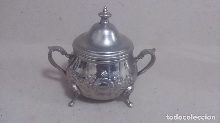 Antigüedades: Tetera y azucarero de metal - Foto 4 - 190306711