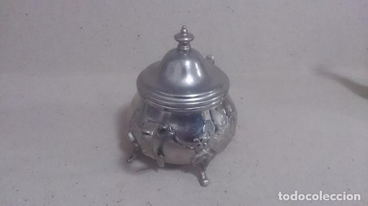 Antigüedades: Tetera y azucarero de metal - Foto 5 - 190306711