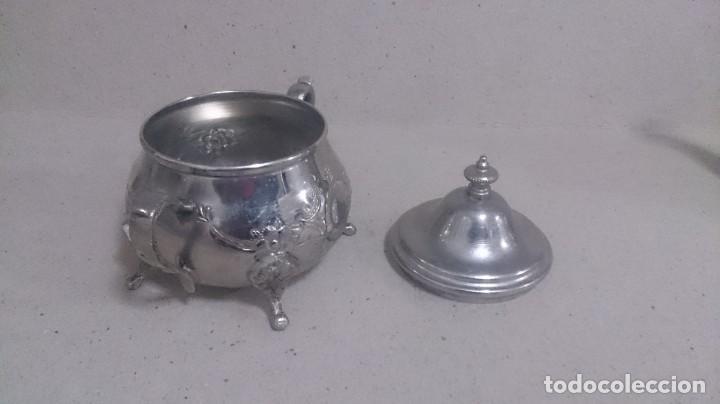 Antigüedades: Tetera y azucarero de metal - Foto 6 - 190306711