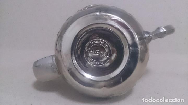 Antigüedades: Tetera y azucarero de metal - Foto 7 - 190306711