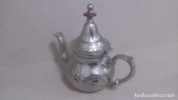 Antigüedades: Tetera y azucarero de metal - Foto 9 - 190306711