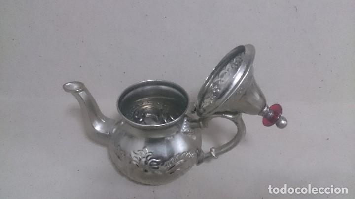 Antigüedades: Tetera y azucarero de metal - Foto 10 - 190306711