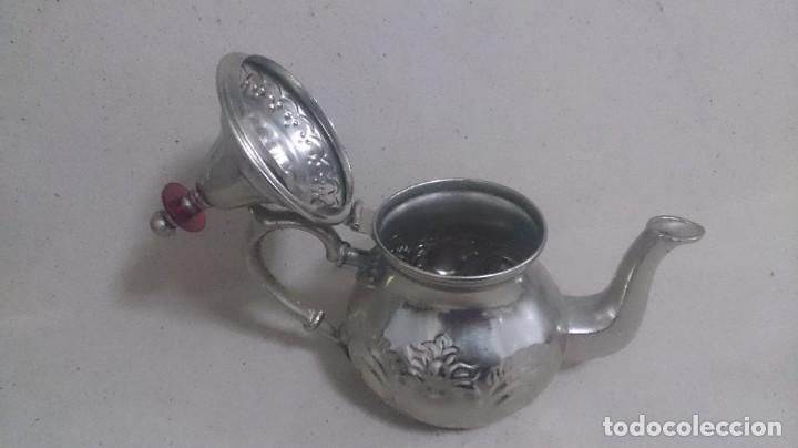 Antigüedades: Tetera y azucarero de metal - Foto 12 - 190306711