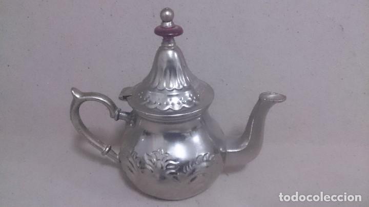 Antigüedades: Tetera y azucarero de metal - Foto 13 - 190306711