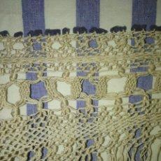 Antigüedades: ANTIGUOS FLECOS PARA MANTÓN DE MANILA EN COLOR BEIGE. Lote 190306721