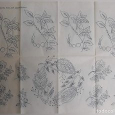 Antigüedades: ANTIGUO PATRÓN DE BORDADOS. Lote 190322493