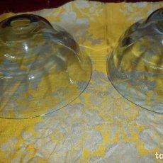 Antigüedades: DOS PLATOS LAMPARAS EN CRISTAL. Lote 190323171