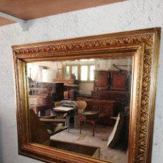 Antiquités: MARCO ANTIGUO DORADO CON ESPEJO. Lote 190331306