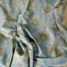 Oggetti Antichi: CORTINAS. JACUARD DE MOIRÉ DE SEDA O VISCOSA. ESPAÑA. SIGLOS XIX-XX. Lote 190332223