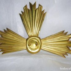 Antigüedades: AUREOLA RESPLANDOR DE SANTO DE LATÓN. Lote 190335812