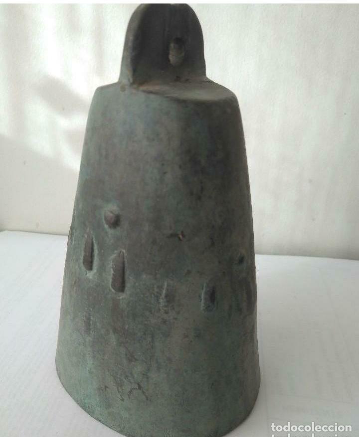Antigüedades: MUY ANTIGUA CAMPANA LLAMADOR DE COBRE DEL IMPERIO OTOMANO MAS DE 200 años AUTÉNTICA - Foto 4 - 190342163