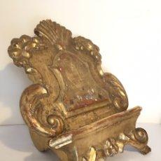 Antigüedades: ANTIGUO ATRIL DE IGLESIA DE MADERA DORADA CON PAN DE ORO. Lote 190346620