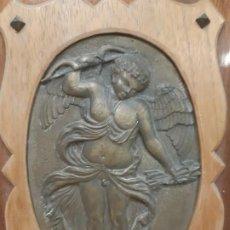 Antigüedades: OBRA EN METAL. ANGEL CON ARCO. OBRA DE FRANCESC GASSO. UNA OBRA DE ARTE EN TU CASA. Lote 190354740