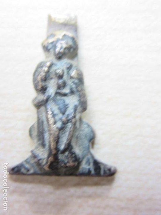 Antigüedades: Parte inferior de crucifijo con Virgen Posible S XVIII - Foto 3 - 190354802