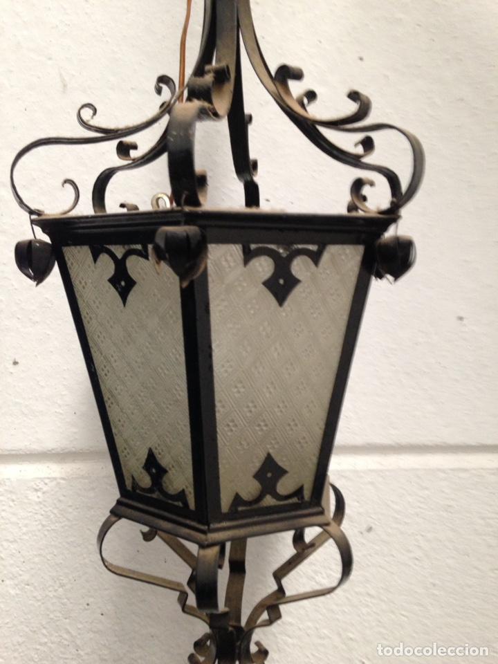 Antigüedades: Antiguo farol de forja - Foto 2 - 190362328