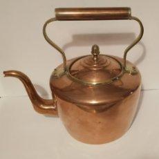 Antigüedades: HERVIDOR-TETERA COBRE. PRIMERA MITAD S XX. Lote 190363856