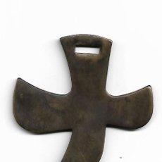 Antigüedades: CRUZ EN BRONCE. Lote 190364201