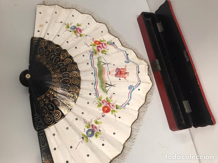 Antigüedades: Antigua abanico chino siglo XIX - Foto 3 - 190369406