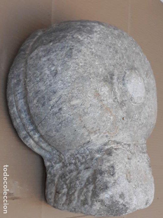 Antigüedades: PILA ANTIGUA PARA AGUA BENDITA EN MARMOL PULIDO GRIS - SIGLO XVII. - Foto 9 - 190370143