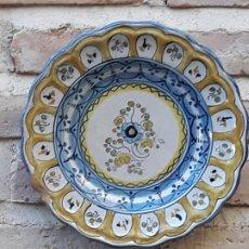 Antigüedades: PLATO ANTIGUO DE TALAVERA DE LA REINA ( TOLEDO ) FIRMADO: SASO.. Lote 190372773